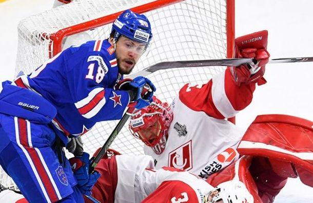 СКА уступил «Спартаку» впервой игре плей-офф Кубка Гагарина