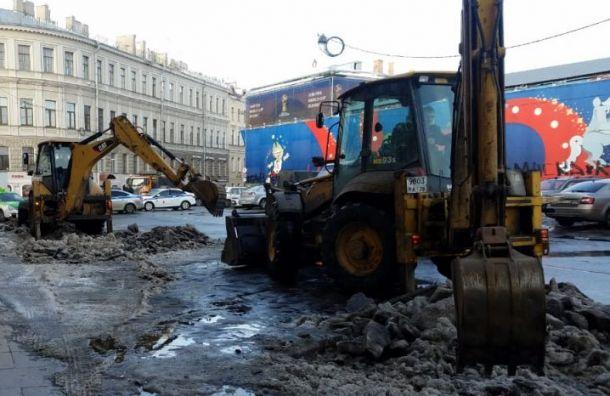 ГАТИ назвала Невский район худшим поуборке снега