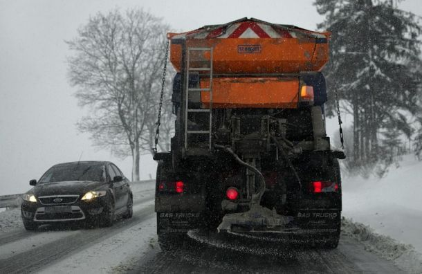 Петербуржцы выступили против обработки снега реагентами