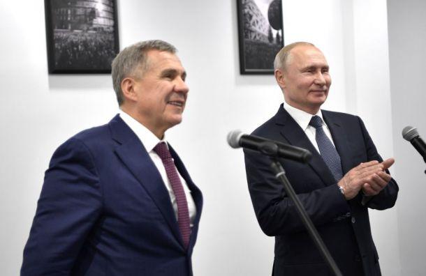 Песков объяснил шутки Путина вадрес главы Татарстана