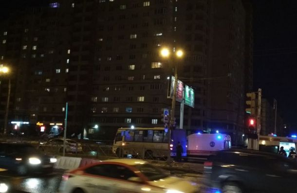 Маршрутка сбила пешехода наИриновском проспекте