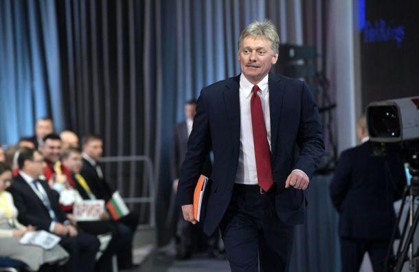 Песков назвал стажировку дочери вЕвропарламенте обычной практикой
