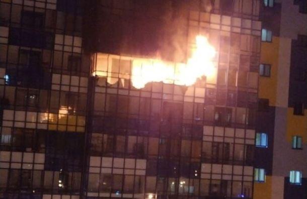 Трех жильцов госпитализировали после пожара вКудрове