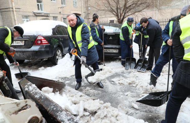 Беглов вышел науборку Малой Посадской улицы