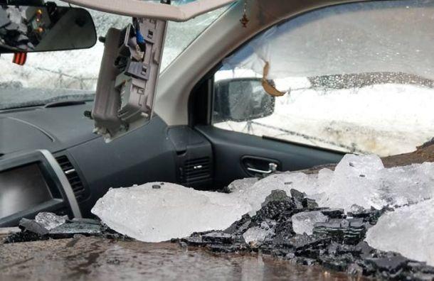 Хозяев битых льдом машин отправили всуд