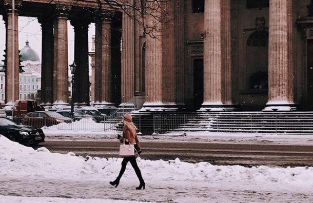 Рабочая неделя вПетербурге началась снебольшого мороза