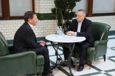 Беглов вофисе «ВКонтакте» говорил оботкрытом правительстве