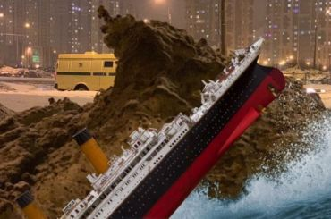 Петербуржцы превратили большую гору снега вколлажи