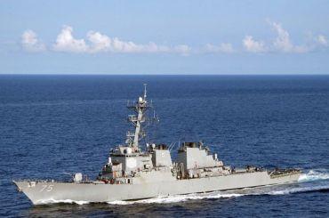 Американский ракетный эсминец вошел вЧерное море