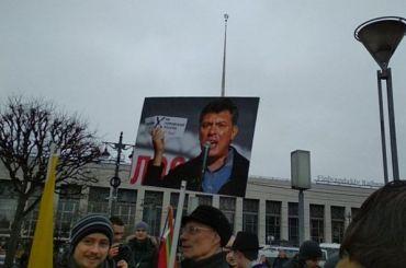 Около тысячи человек пришло намитинг памяти Немцова