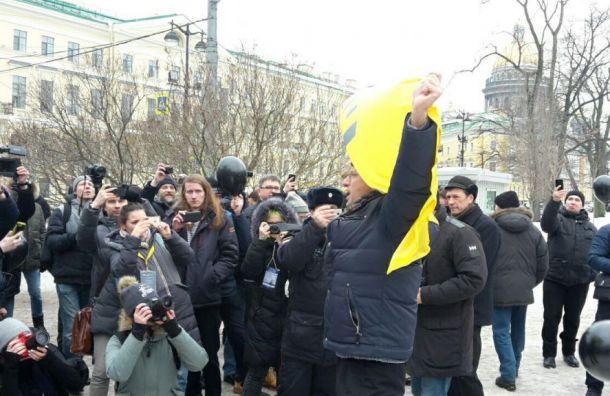 На «Марш материнского гнева» вПетербрге пришли около 50 человек