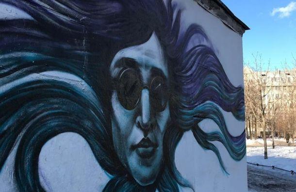 Граффити сЕгором Летовым появилось вПетербурге