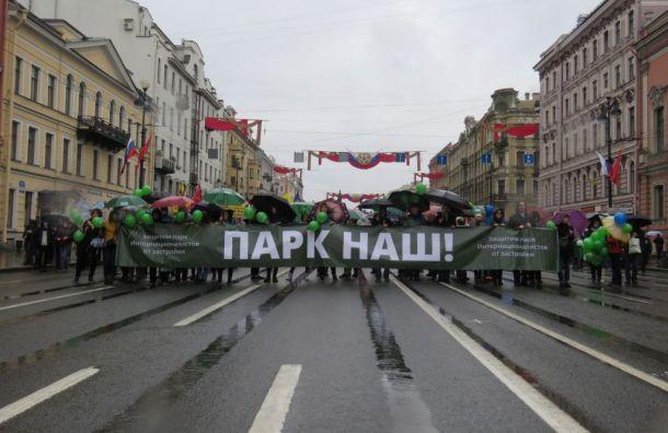Защитники парка Интернационалистов идут намуниципальные выборы
