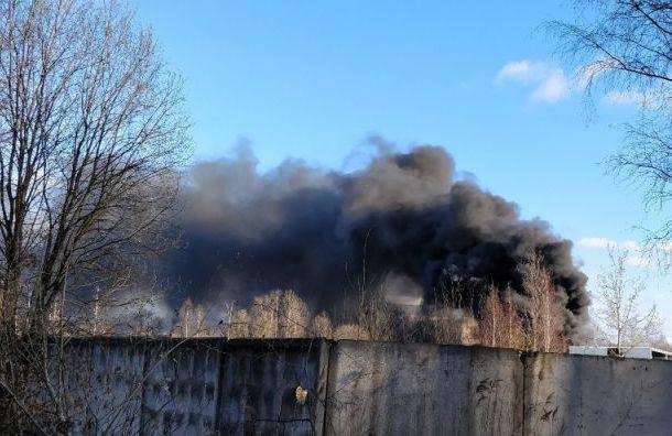 Крупный пожар произошел врайоне Волхонки