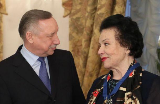 Беглов наградил оперную певицу Богачеву знаком отличия
