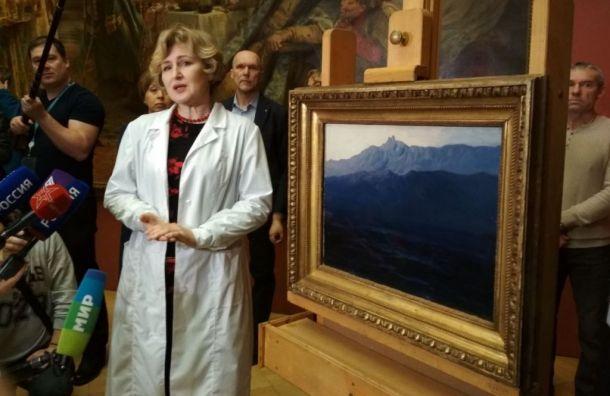 Похищенную картину Куинджи показали вРусском музее