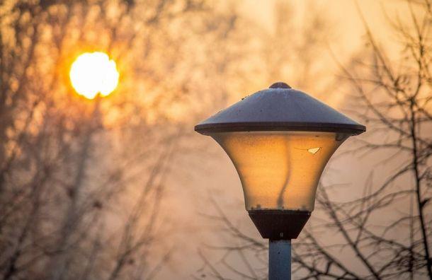 Петербург ждет впятницу резкое потепление
