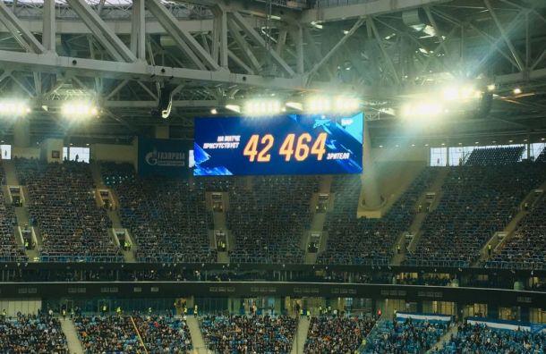 Матч «Зенита» с«Уфой» стал самым посещаемым в19-м туре РПЛ