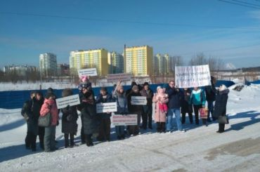 Обманутые дольщикиЖК «Янино-парк» перекрыли Колтушское шоссе