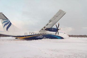 Самолет выкатился запределы взлетно-посадочной полосы вТуруханске