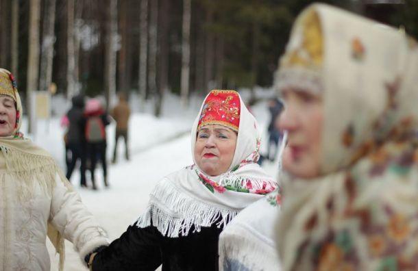Петербурженка продает костюм медведя кМасленице