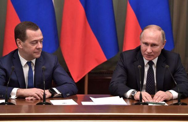 Медведев за2018 год заработал больше Путина