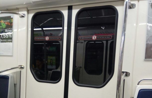 Полиция ищет вандала, избившего дверь вагона метро