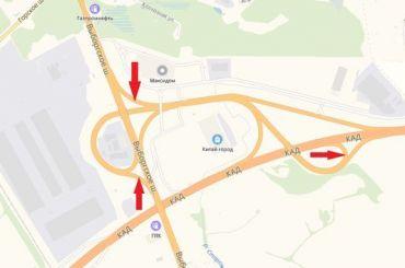 Напять дней перекроют съезды сКАД наВыборгское шоссе