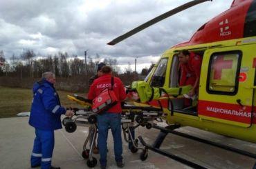 Вертолет доставил вПетербург пострадавшую вДТП жительницу Ленобласти