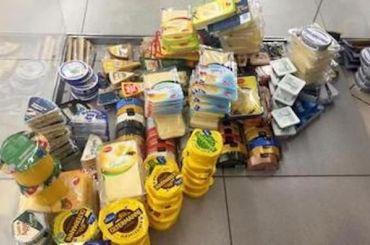 Более 450кг продуктов отобрали упетербуржцев награнице