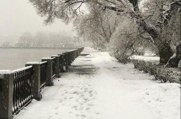 Первый апрельский снег выпал вВыборге