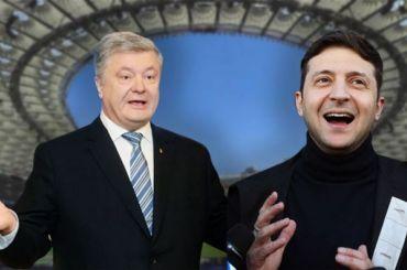 Российские телеканалы покажут дебаты между Зеленским иПорошенко