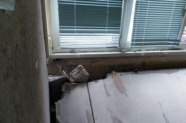 Стена дома наГражданском проспекте рухнула из-за перепланировки