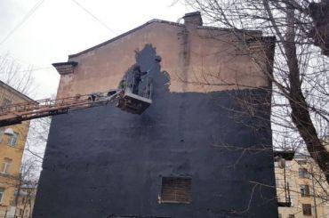 Граффити сТерешковой появилось вПетербурге коДню космонавтики