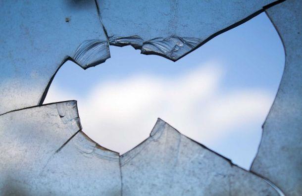 Хулиганы расстреляли окна дома наЛиговском