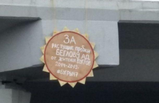 Беглова иДрозденко наградили «орденами» зарастущие пробки