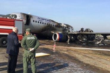 СКпоказал кадры сгоревшего вШереметьеве самолета