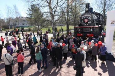 Ретропоезд прибудет настанцию Ладожское озеро вчесть Дня Победы