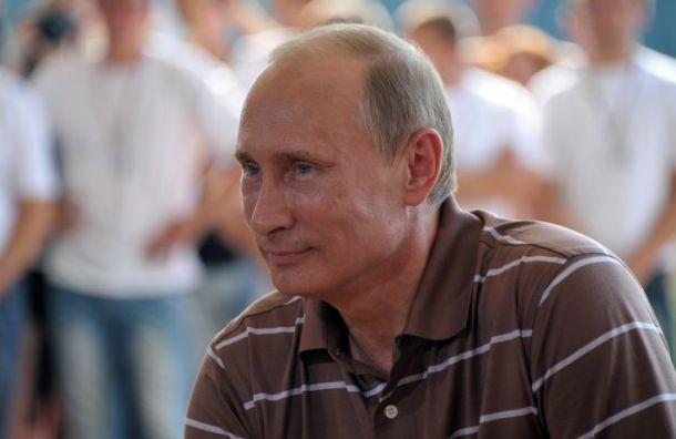 Путин наградил петербургскую семью свосемью детьми
