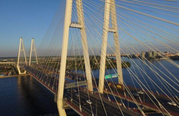 Две полосы КАД врайоне вантового моста перекроют до29июня
