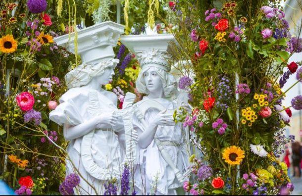 Парад цветов пройдет вПетербурге наДень России