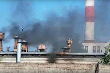 Пожар произошел нахимзаводе «ЛенРеактив» вПетербурге