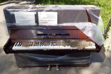 Пианино наПетроградской стороне защитили камерами видеонаблюдения