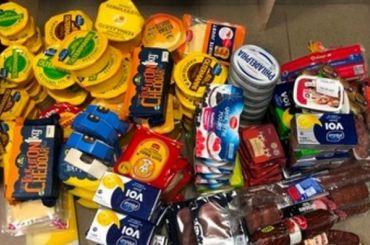 Замесяц таможенники изъяли упетербуржцев почти тонну санкционки