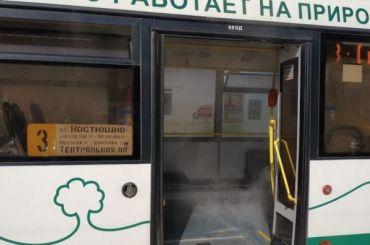 Кипяток неожиданно полился на пассажиров автобуса №3