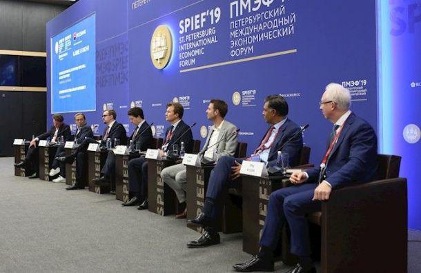 Петербург получит 100 млрд рублей инвестиций после первого дня ПМЭФ