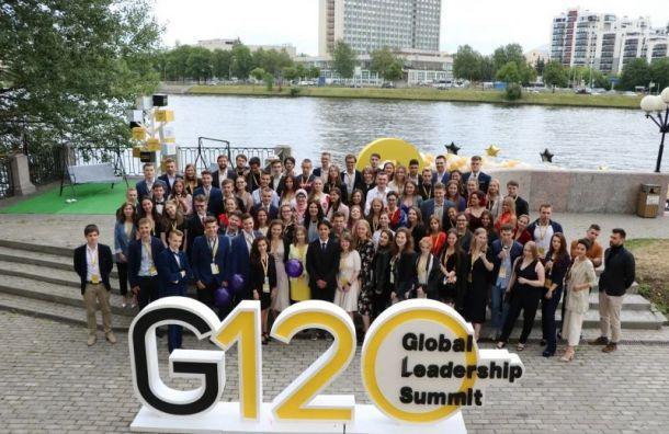 Лидеры Санкт-Петербурга иМосквы встретились наGlobal Leadership Summit
