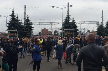 Вечерний коллапс произошел наБалтийском вокзале