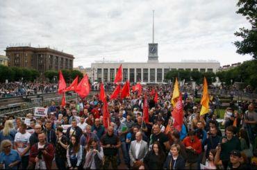 Митингующие зачестные выборы потребовали отставки Макарова