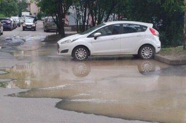 НаШлиссельбургском проспекте прорвало трубу